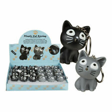 Schlüsselanhänger Katze Kätzchen mit LED Licht und Sound Miau Meow Mauzt