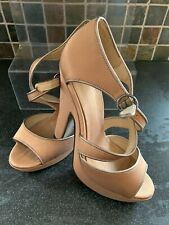 Carvela Gold Strappy Peep Toe High Sandals  Size 6