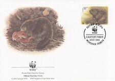 WWF044) WWF Panda, FDC, Beaver, Belarus, 20 July 1995, set of 4