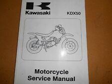 2003 Kawasaki KDX50 KDX 50 Factory Service Manual 99924-1305-01