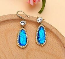 BJ New beauty blue rhinestone Drop/Dangle earrings hook Women fashion jewelry