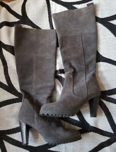 Apart Stiefel Größe 37 grau Wildleder neu Vollleder innen und außen