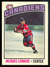 1976-77 OPC O PEE CHEE #129 JACQUES LEMAIRE NM MONTREAL CANADIENS HOCKEY CARD