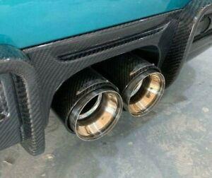 MINI R56 Cooper S JCW STYLE EXHAUST TIPS CARBON FIBRE R55 R57 R58 R59