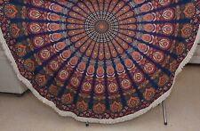 Indian wall hanging tapestry mandala cotton handmade beach blanket round throw