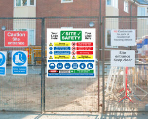 Construction Site Safety Signs (Dangerous Work) UP TO 4ft x 4ft LARGE LAMINATED