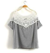 Unbranded Lace Casual Crop Tops for Women