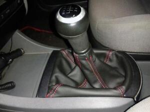 Cuffia leva cambio Seat Ibiza 6L vera pelle nera