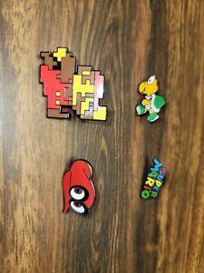 Lot of 4 Nintendo Super Mario hat Pins buttons brooch lapel