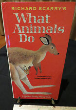 Golden Book What Animals Do by Richard Scarry's HC G1974 VG - Rare #12130