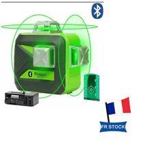 Niveau Laser line Huepar 603cg Bt 3×360 3d Vert Bluetooth Batterie pile secteur