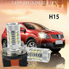 PAIR H15 LED Headlight Kit Hight Beam Bulb
