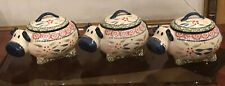 Lot 3 Temp-tations Presentable Ovenware Old World Casserole Dishes w/Lids-16 Oz