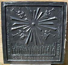 Plaque de cheminée EE Le signe du fils de l'homme Henri Pelabon Monnaie de Paris