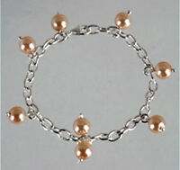 925 ECHT SILBER *** Perlen lachs Armband Bettelarmband 19cm