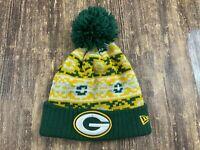 Green Bay Packers Green/Yellow NFL Football Beanie - New Era - OSFA
