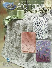 Afghans on a Roll Crochet Instruction Patterns Annie's Attic Roll Stitch NEW