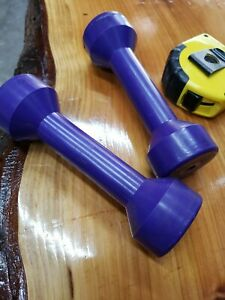 Vintage Weider rubberized Executive Dumbbells Weights 3 Lbs Rare