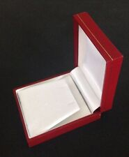 NECKLACE BOX JEWELRY HOLDER STORAGE RED LEATHERETTE ORGANIZER T33