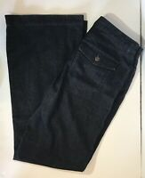 Lauren Jeans Co Ralph Lauren Trouser Wide Leg Jeans Womens Sz 6 Dark Blue