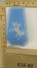 FREE US SHIP OK Touch Lamp Replacement Glass Panel Unicorn Blue 638-NU