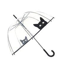 Paraguas automático Claro Cúpula ver a través de jaula de Gato Palo Para Transparente