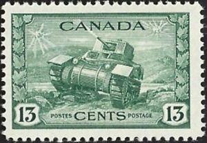 Canada   # 258   RAM TANK - WAR ISSUE  New  Issue 1942 Pristine Gum Issue  06