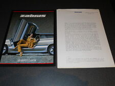 BERTONE ZABRUS concept car dossier de presse media press kit Mondial Paris 1986