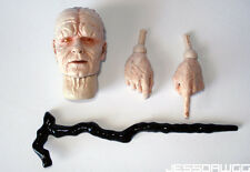 """1/6 Emperor Palpatine head sculpt hands cane by Sideshow Star Wars 12"""" hot toys"""