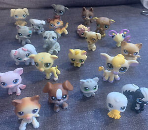 Littlest Pet Shop LPS Authentic Lot Of 20 Toys Figures Some Rare dogs cats
