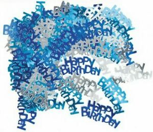 14g Happy Birthday Blue Table Confetti Party Glitz Sprinkles Scatter Decorations