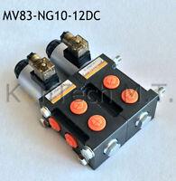 Hydraulik Magnetventil 8/3-Wegeventil NG10 12V DC, Leckölanschluss inkl. Stecker