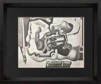 "Le CORBUSIER Lithograph ""La main rouge"" SIGNED 1930 * Custom Frame"