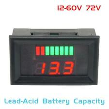 12-60V Lead Acid Battery Capacity Led Indicator Digital Voltmeter Tester Meter