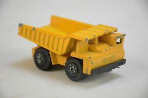 VTG 1976 MATCHBOX SUPERFAST No58 FAUN DUMP TRUCK CATERPILLAR CAT 1/64 DIECAST