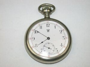 Waterbury Watch Co. 16 Size 3- Finger Bridge Pocket Watch. 105A