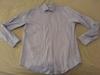 Mens Michael Kors Dress Shirt 16 34 35 Purple Cotton Long Button