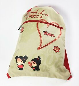 Backpack Soft Pucca Destined Love Beige By Premiere Size Media 30x40 CM