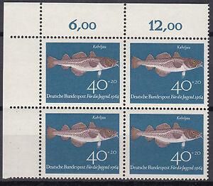 BRD 1964 Mi. Nr. 415 4er Block mit Eckrand Postfrisch TOP!!! (26881)
