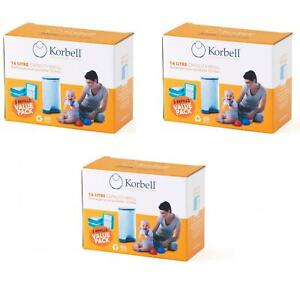 Korbell Ricariche per Bidone Korbell 16 lt - 3 confezioni da 3 ricariche