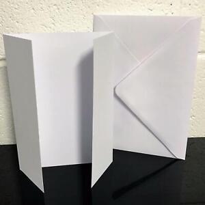 25 x A5 White GateFold Card Blanks & Envelopes - StellaWeds® Cardmaking