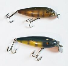 Pair Of Creek Chub #100 Wiggler Lures In Perch Scale Early & Later