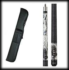 New Eight Ball Mafia EBM10 Pool Cue Stick- B&W w/Brass Knuckles 18-21 oz & Case