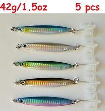5 pcs Colt Sniper Metal Jig 42g /1.5oz Knife Vertical Fishing Lure Random Colors