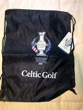 Nwt Celtic Golf 2019 Solheim Cup Gleneagles Scotland Drawstring Bag Ryder Cup
