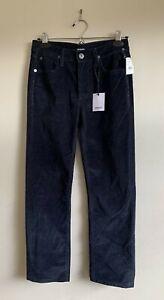 BNWT Hudson Kids Corduroy Straight Navy Blue Pants 12