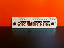 Oak Best Teacher Ruler 21cm x 5cm perfect teachers Gift