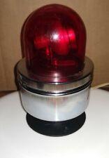 Vintage Crown Revolving Safety Emergency Red Light Lite 12 Volt