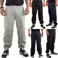 Mens Elasticated Trouser Joggers Loose Fit Jogging Bottoms Fleece Sweatpants Gym