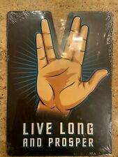 """Live Long And Prosper"" Spock Star Trek, Metal Art Sign New/Sealed Free Ship"